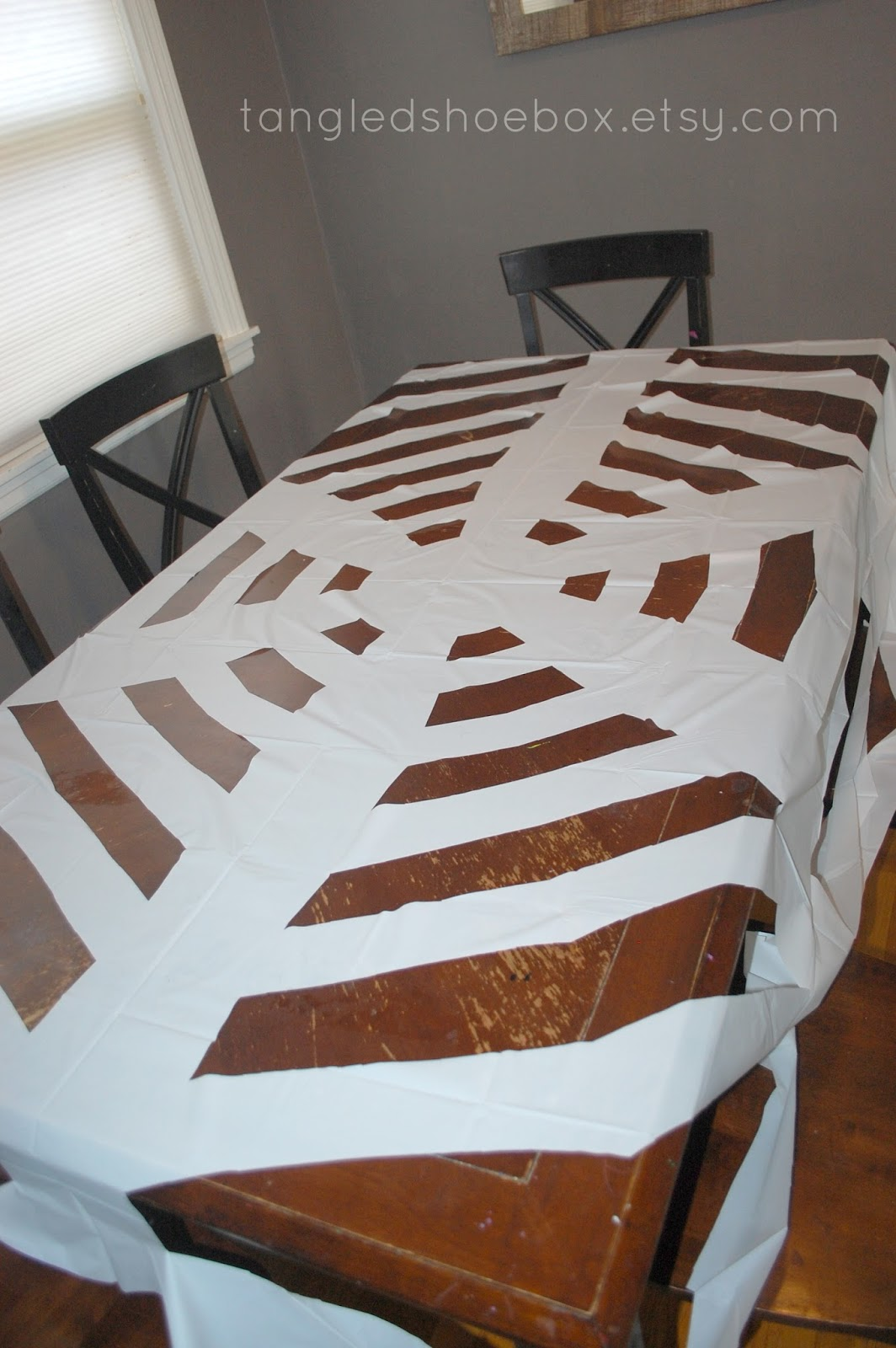 Tangled Shoebox Diy Spider Web Dollar Tree Round Tablecloth