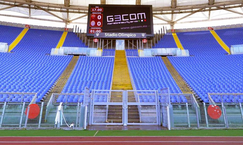 Stadio Olimpico Roma barriere curva