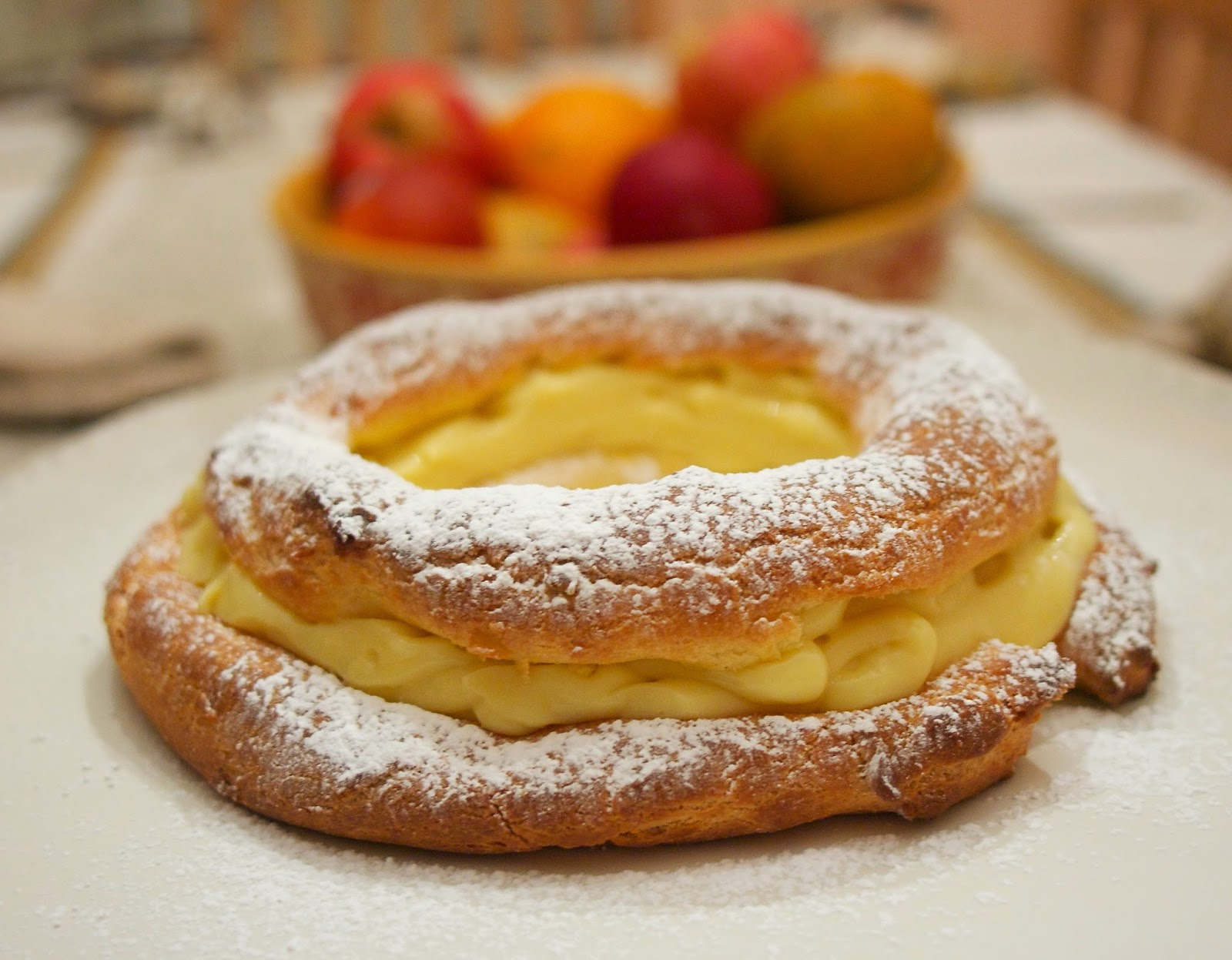 paris brest cream puff ring french fridays with dorie simple living and eating paris brest. Black Bedroom Furniture Sets. Home Design Ideas