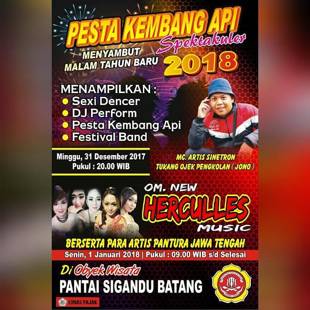 Event Batang | 31/12/17 | Pesta Kembang Api menyambut Malam Tahun Baru 2018