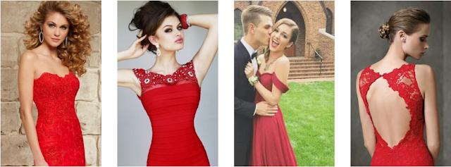 Vestidos de baile vermelhos