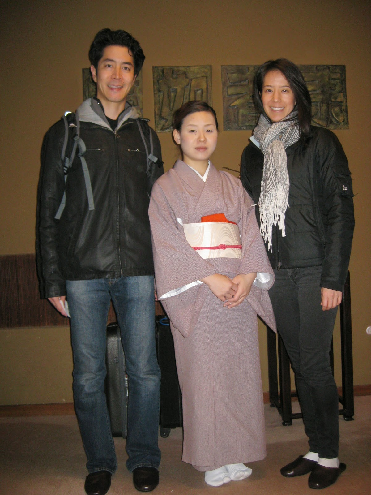 Kyoto - Posing with our hostess