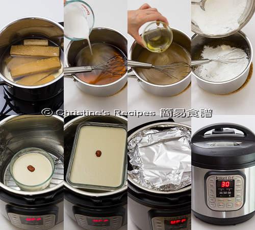 年糕製作圖 Chinese New Year Cake in Instant Pot Procedures