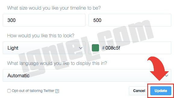 Cara Memasang Twitter Box di Blogspot