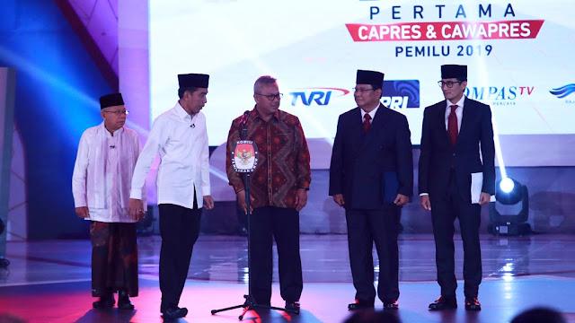 DEBAT PILPRES 2019: Jokowi Pertaruhkan Jabatan, Prabowo Janji Naikkan Gaji