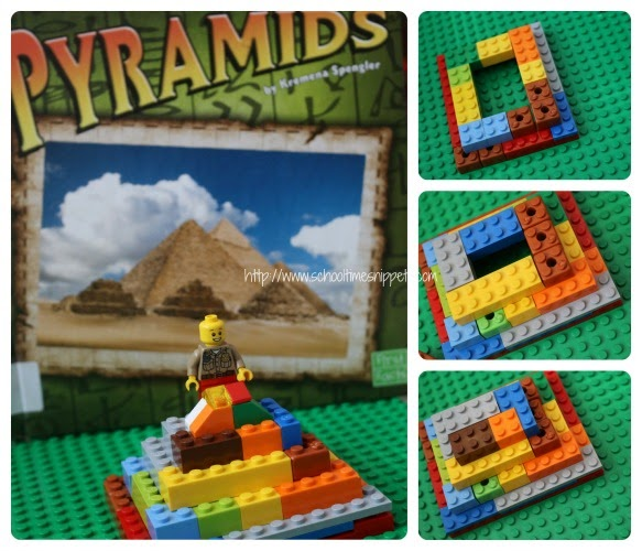 LEGO pyramid geography lesson