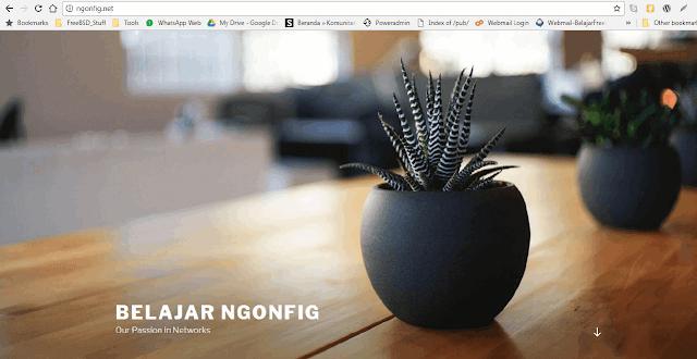 Blog Baru Belajar Ngonfig