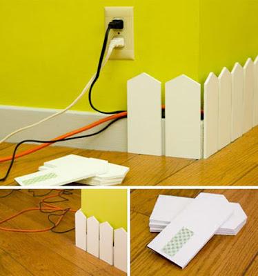 Sembunyikan kabel dengan metode pagar