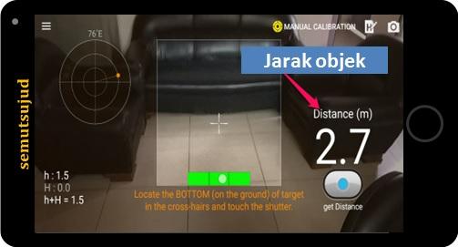 Cara mengukur jarak menggunakan kamera android semutsujud
