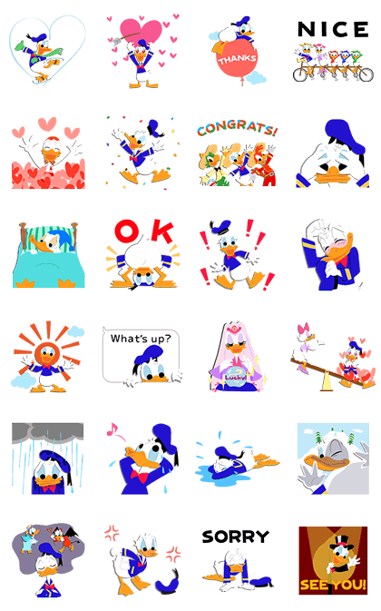Donald Duck Pop-Up Stickers