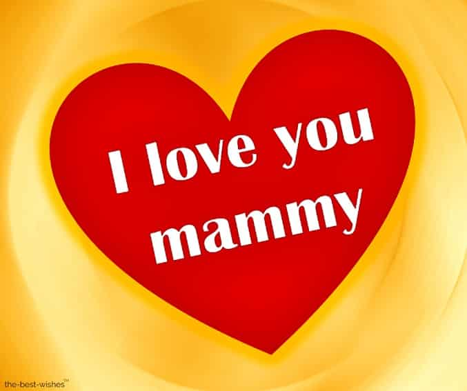i love you mammy