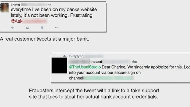 حسابات مزيفة لخدمة الزبائن عبر تويتر