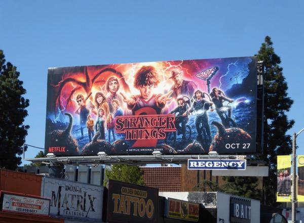 Illustrated Stranger Things 2 billboard