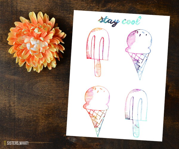 Stay cool summer printable free