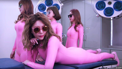 Korean girl band, Six Bomb, releases video of their plastic surgery procedures