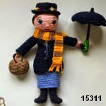patron gratis muñeca Mary Poppins amigurumi, free pattern amigurumi doll Mary Poppins