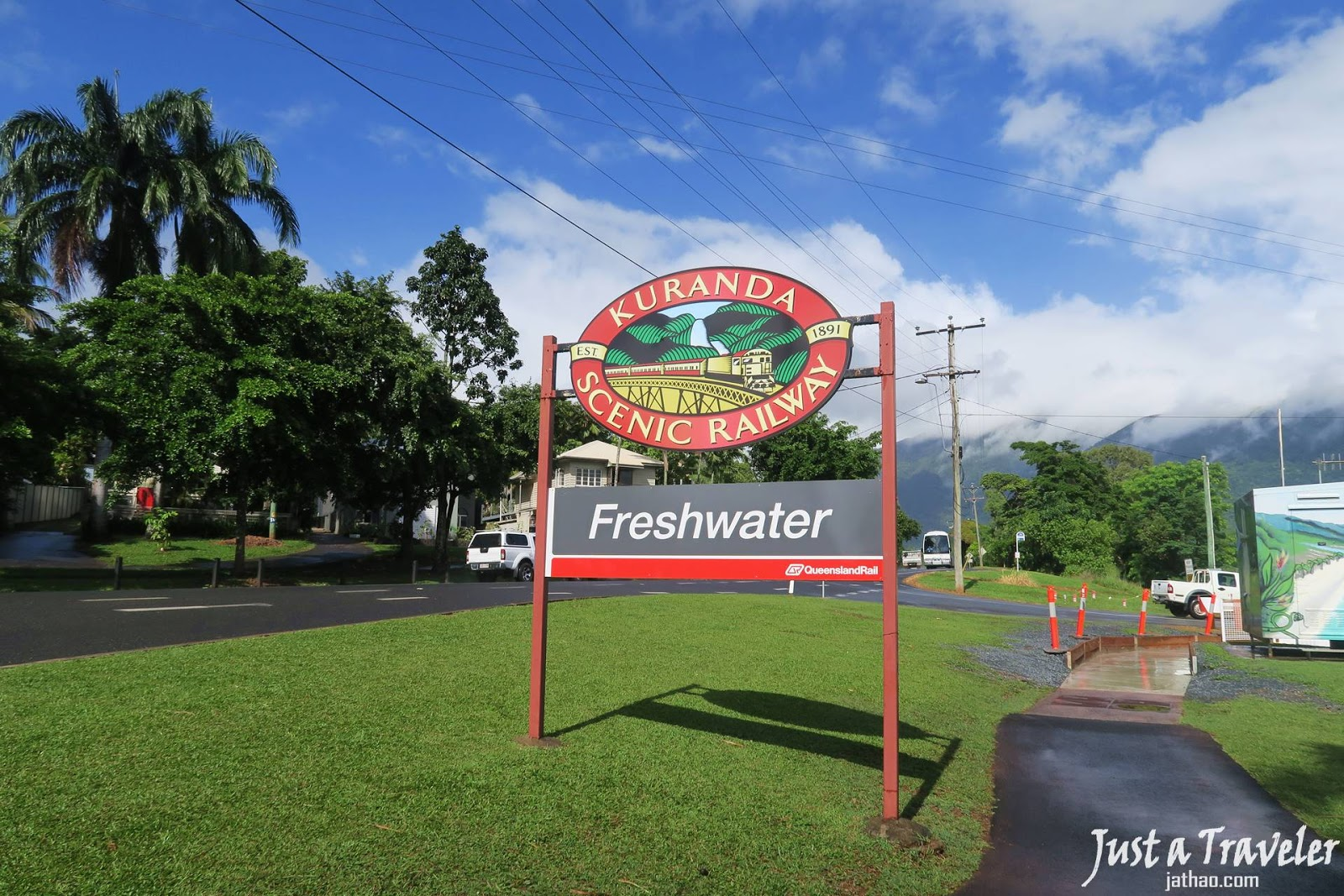 凱恩斯-庫蘭達-交通-清水站-觀光火車-自由行-旅遊-澳洲-Cairns-Kuranda-Scenic-Railway-Freshwater-Travel-Tourist-Attraction-Australia