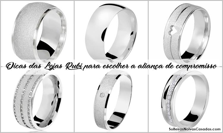 6d7730b09b9 Dicas das Lojas Rubi para escolher a aliança de compromisso - Blog SNC