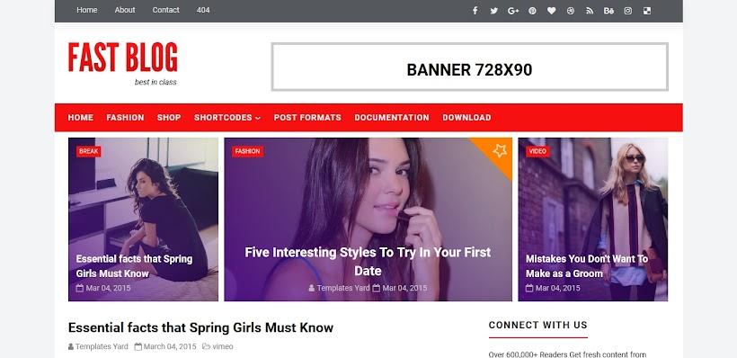 Fastblog Free Blogger Template