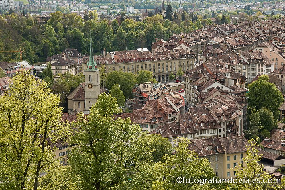 Vista de Berna desde el Parque de las Rosas