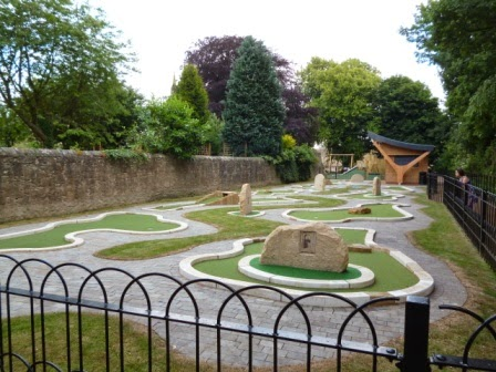 Minigolf course in Barnard Castle, County Durham
