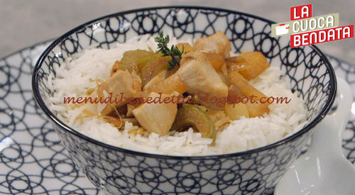 La Cuoca Bendata - Pollo all'ananas con riso basmati ricetta Parodi