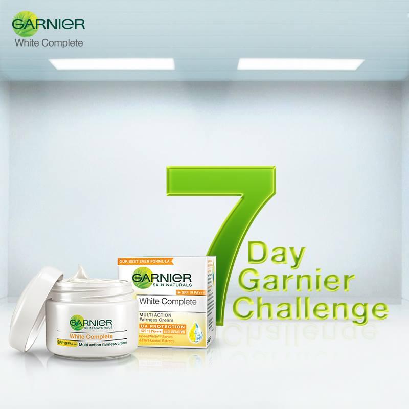 7 Day Garnier Challenge Get Free Sample of Garnier White Complete