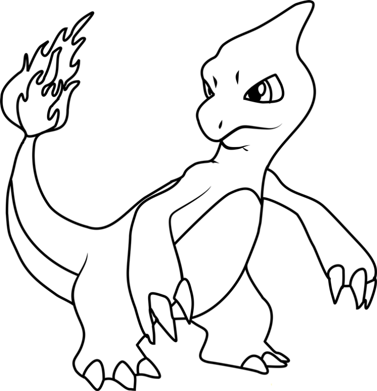 Charmander Coloring Pages - Free Pokemon Coloring Pages