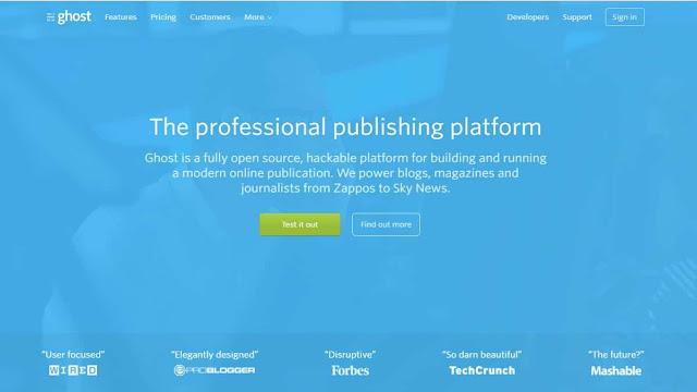 Ghost adalah alternatif sederhana selain WordPress jika Anda hanya ingin fokus pada struktur konten dan SEO
