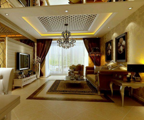 ruang keluarga yang mewah