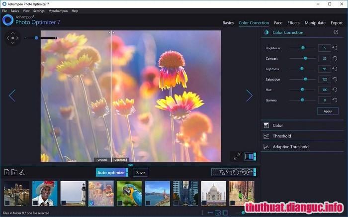 Download Ashampoo Photo Optimizer 7.0.2.3 Full Cr@ck – Chỉnh sửa, tối ưu hóa ảnh tốt nhất