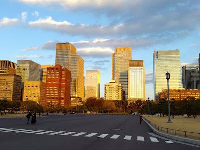Office buildings of Marunouchi Tokyo Japan