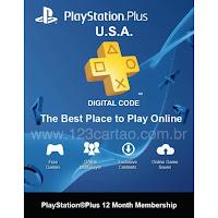 Promoção de Cartão PSN Plus EUA 12 meses por apenas 47.99 dolares