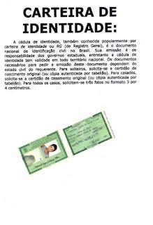 Textos informativos- carteira de identidade