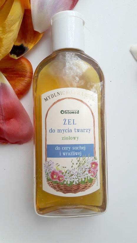 FITOMED, MYDLNICA LEKARSKA: Żel ziołowy do mycia twarzy cera sucha i wrażliwa