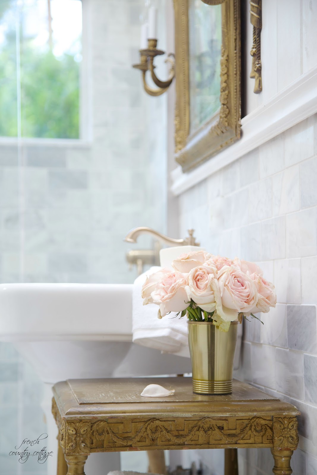 French Cottage Bathroom Renovation Reveal  FRENCH COUNTRY COTTAGE