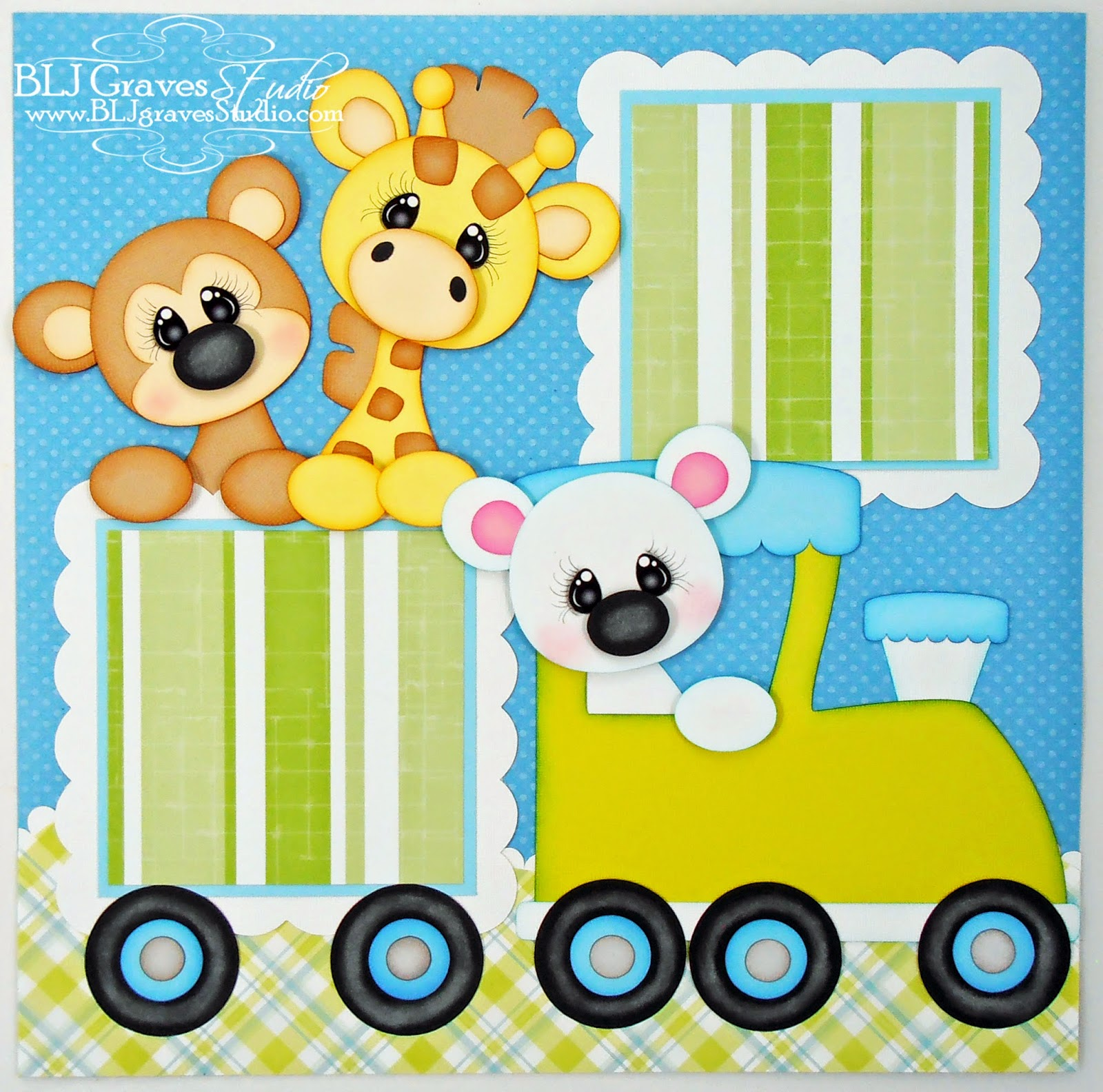 Scrapbook ideas zoo - Baby Boy Scrapbook Pages Cutting Files For This Layout From Little Scraps Of Heaven Designs