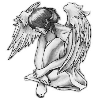 тату латыни ангел всегда со