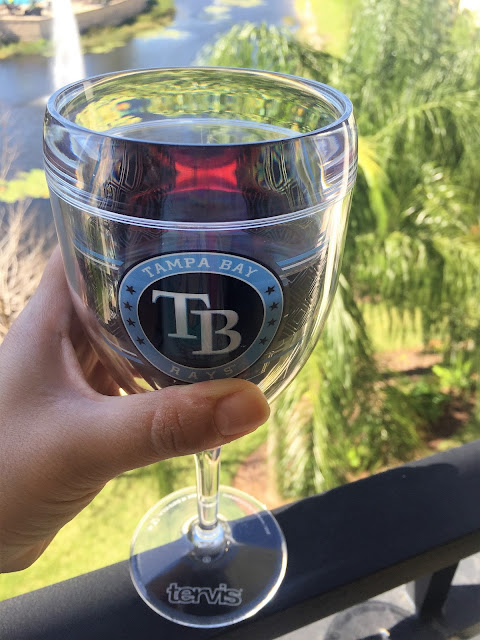 tampa bay rays mlb wine glass