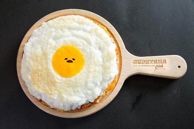 Gudetama Chef 蛋黃哥五星主廚餐廳 雲朵山賊雞 Pizza