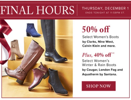 Hudson's Bay 50% Off Women's Boots
