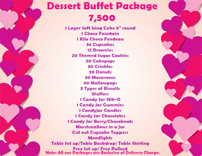 Affordable Dessert buffet package 7,500 in Cebu
