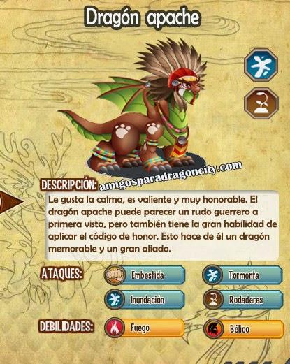 imagen de las caracteristicas del dragon apache