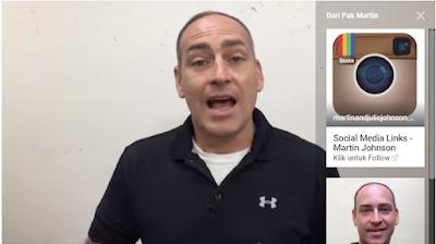 pak martin memakai anotasi untuk menampilkan video yang lain