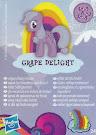 MLP Wave 9 Grape Delight Blind Bag Card