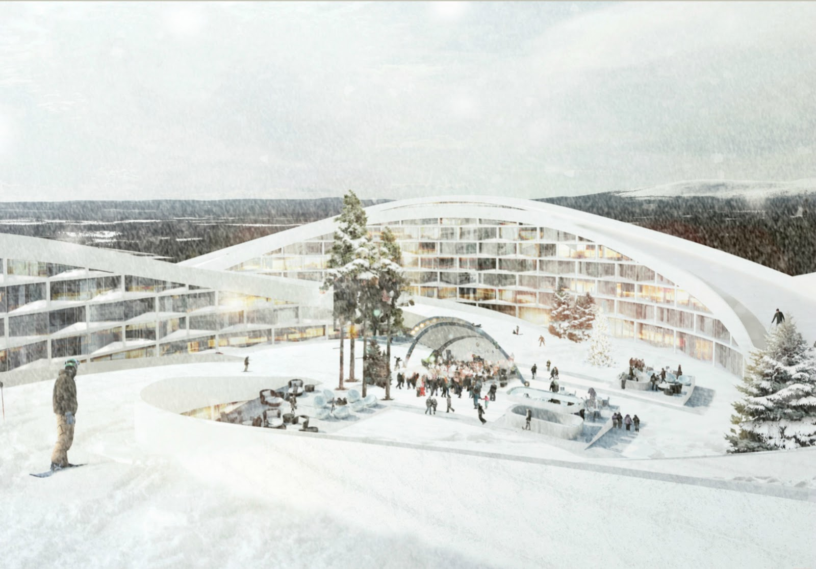 Koutalaki ski village by big group for Designhotel ski