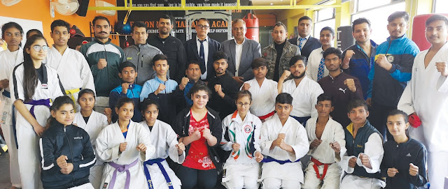 Selection of the players of Faridabad in GBN Sector 21 Faridabad for Haryana State Karate Contest