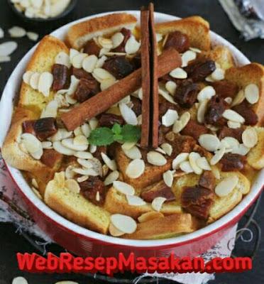 Puding Roti Kurma, Resep puding roti kurma, Puding Roti Kurma ncc,