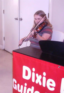 Brianna playing her violin