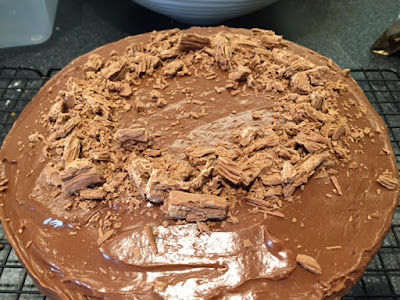 Chocolate Orange Easter Nest Cake with icing and Cadubry's flake nest